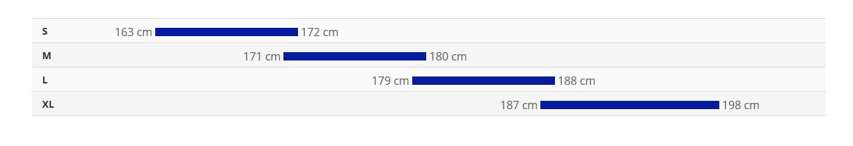 جدول سایز دوچرخه talon 3 2020